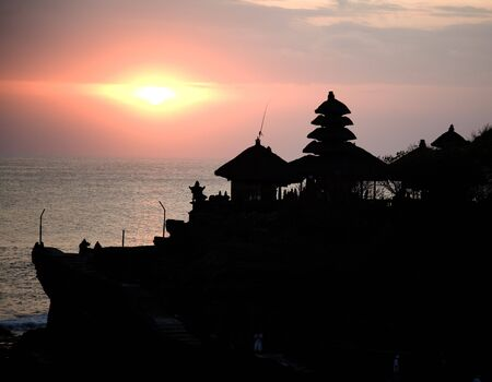 Balinese temple silhouette