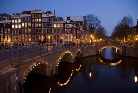 Amsterdam night 9 Stock Photo