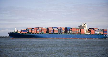 Cargo ship 4 Stock Photo