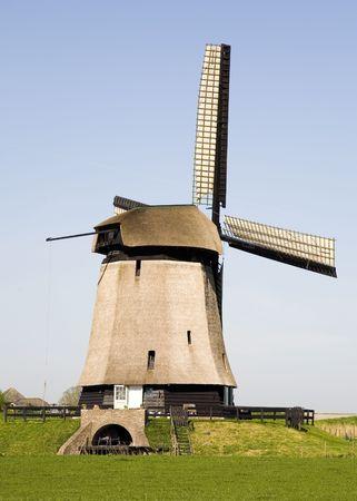 airstream: Dutch windmill 18 Stock Photo