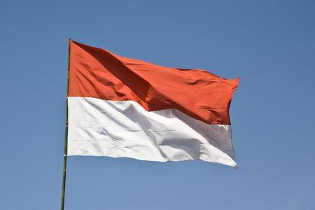 Indonesian flag Stockfoto