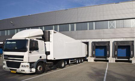 loading cargo: Loading docks  Stock Photo