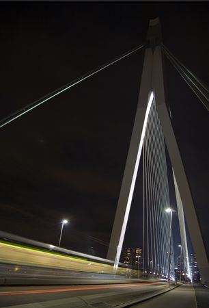maas: Suspension bridge  Stock Photo