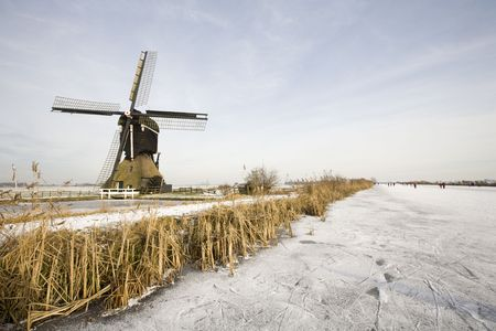 airstream: Winter scene Stock Photo