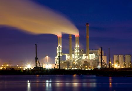 Refinery at night Stock Photo - 4232626