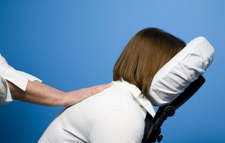 Chair massage Stock Photo