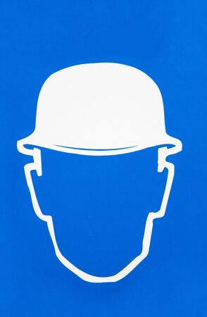 head protection: Safety sign