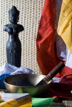 singing bowl: Canto ciotola Archivio Fotografico