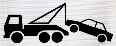 tow truck: Traffic sign