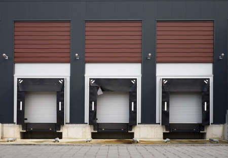 loading truck: Loading docks
