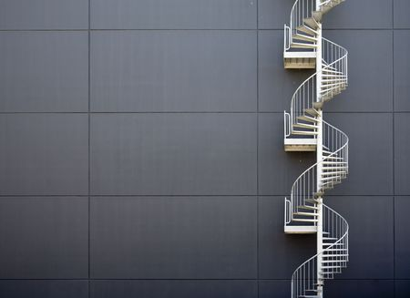 Escalera de emergencia Foto de archivo - 5083970
