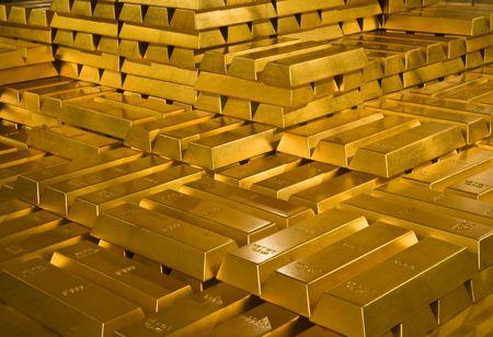Gold bars Standard-Bild