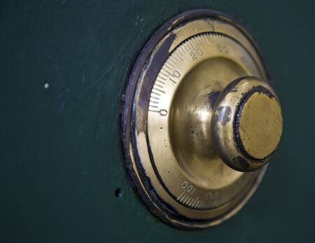 vaulted door: Combination lock  Stock Photo