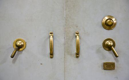 Antique vault door Stock Photo - 5332712