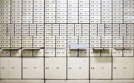 bank deposit: Antique safe deposit boxes