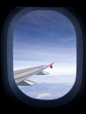 porthole: Airplane window