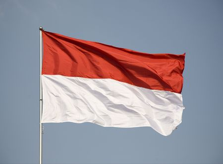 the indonesian flag: Indonesian flag Stock Photo