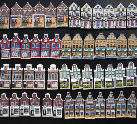 dutch canal house: Amsterdam houses souvenirs