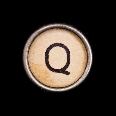 q: Macchina da scrivere lettera Q