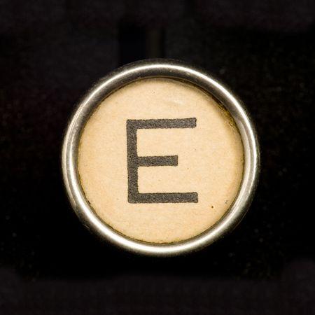 maquina de escribir: Letra E de la m�quina de escribir