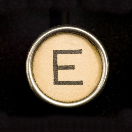 typewriter key: Typewriter letter E