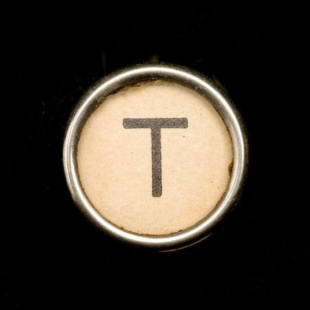 office machine: Typewriter letter T