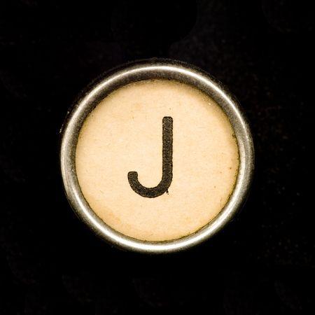 j: Typewriter letter J