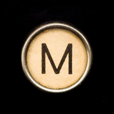 Schreibmaschine Buchstaben M Standard-Bild - 6653761