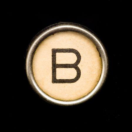 b: Typewriter letter B