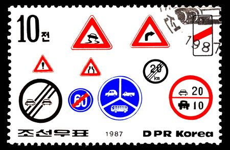 collectible: Traffic signs stamp