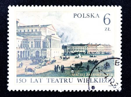 collectible: Polish stamp  Stock Photo
