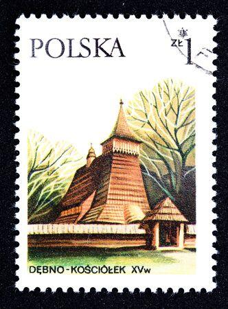 eastern europe: Polish stamp   Stock Photo