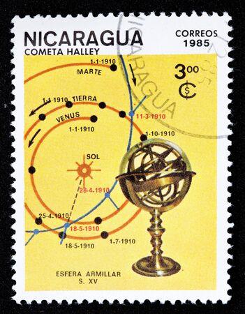 nicaraguan: Nicaraguan stamp  Stock Photo