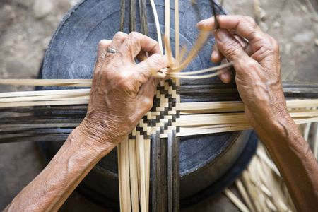 Tissage de bambou