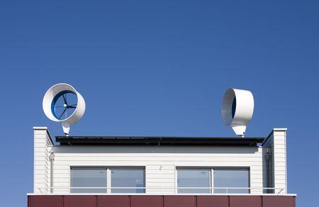 Residential wind turbine  photo