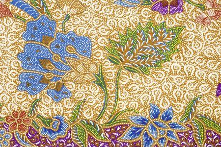 industria textil: Dise�o de batik  Foto de archivo