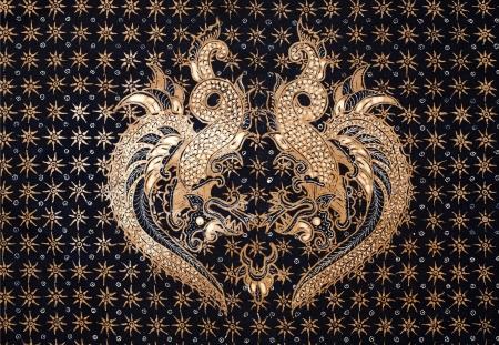 Detail eines Batik Designs aus Indonesien Standard-Bild - 8963862