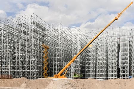 built structure: Construction site
