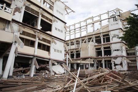 yogyakarta: YOGYAKARTA, INDONESIA - AUGUST 4,2006: buildings destroyed by the magnitude 6.3 earthquake near Yogyakarta on August 4, 2006 in Jetis District, Bantul Regency of Indonesia