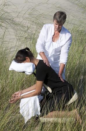 massage chair: Chair massage Stock Photo