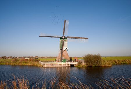 watermanagement: Traditional Dutch windmill
