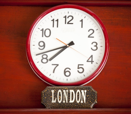 time zone: Time zone clock Stock Photo