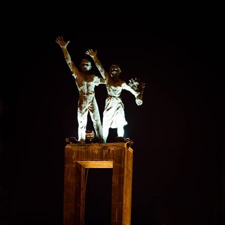Welcome statue photo