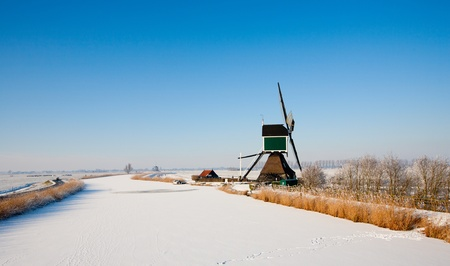 Dutch windmill photo