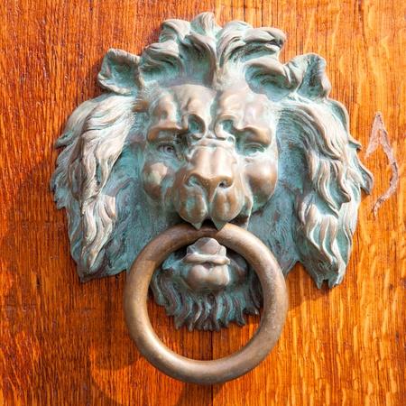 knocker: Antique doorknocker Stock Photo