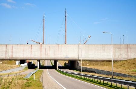 sluice: Modern aqueduct Stock Photo