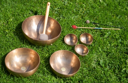 Singing bowls photo