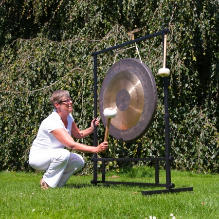 Gong sound healing Stock Photo - 15603645