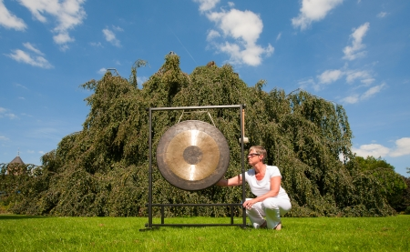 Gong sound healing Stock Photo - 15603646