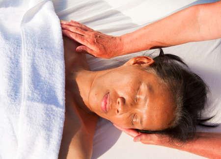 Japanese facial massage  photo